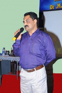 Inaugural address by Principal Mr.D Sunil Kumar