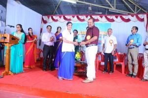 Distribution of M N V G Adiyodi Memorial  Merit Award Shri. V R Rajeev (Registrar, Kerala State Pharmacy Council)