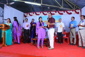 Distribution of M N V G  Memorial Merit Award  Shri V R Rajeev